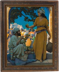 the lamp seller of bagdad by maxfield parrish