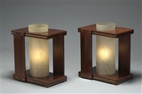 paire de lampes / pair of lamps by andré sornay