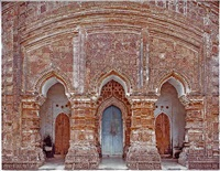 3 portals, 16th century terracotta temple, attpur, west bengal, india by laura mcphee