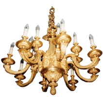 a gilt-bronze chandelier (137)