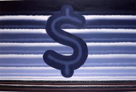 landscape with dollar sign by roger brown
