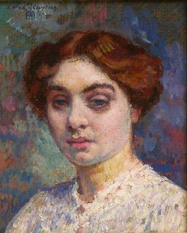 portrait de mademoiselle couvreur by théo van rysselberghe
