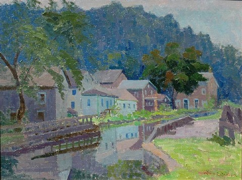 lehigh canal, lumberville by lillian amy montague