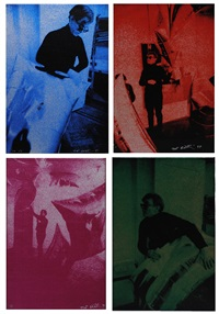 andy warhol (suite of 4 works on canvas) by nat finkelstein