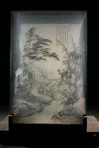 ancient landscape of xia wu singing plum blossom by xia xiaowan