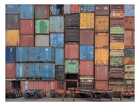container yard #5, seattle by chris jordan