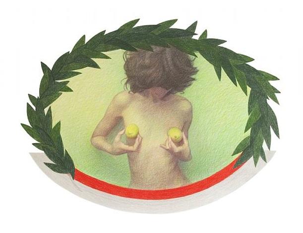 girl with lemons by maia naveriani