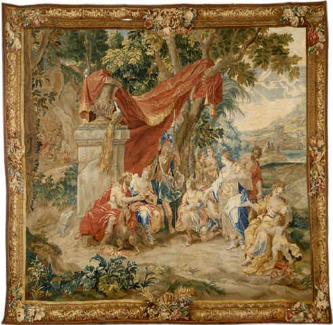 a brussels baroque mythological tapestry (tpy 6)