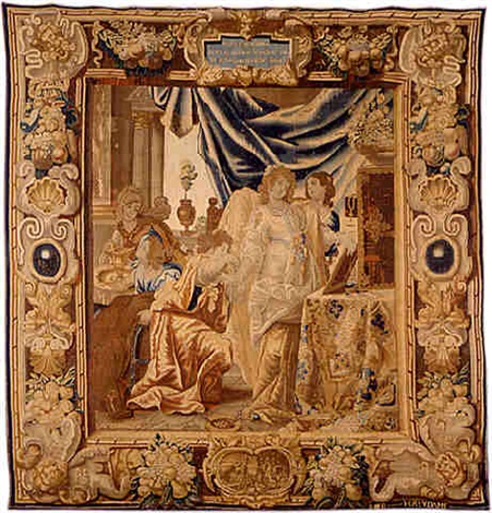 a brussels baroque mythological tapestry (tpy 14) by reydams heinrich