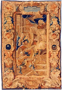 a brussels baroque mythological tapestry (tpy 15) by reydams heinrich