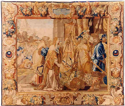a brussels baroque mythological tapestry (tpy 17) by leyniers everaert