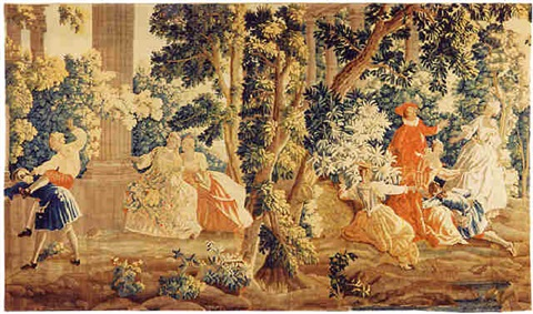 a louis xv aubusson tapestry (tpy 34)