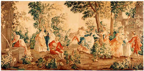 a louis xv aubusson tapestry (tpy 35)