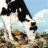 cows on garbage i by don simon