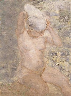 nude by stream by isabel bishop