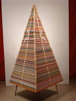 two-part yardstick pyramid-on-frame by clare graham
