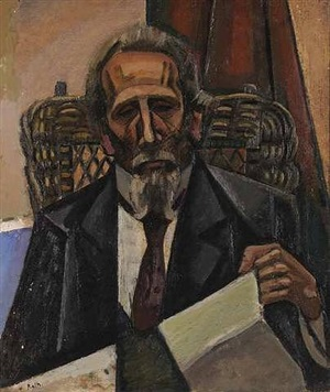 portrait of the musician mazzi by alfred reth