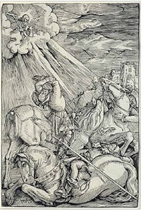 the conversion of saint paul by hans baldung grien
