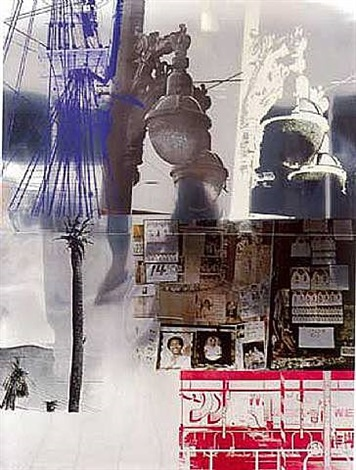 narcissus / roci usa (wax fire works) by robert rauschenberg
