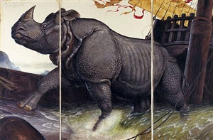 loss of the lisbon rhinoceros by walton ford