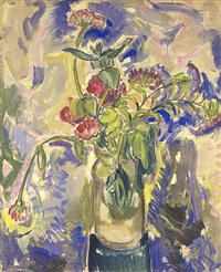 blue flowers by alfred henry maurer