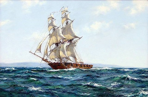 the baltimore chasseur by montague dawson
