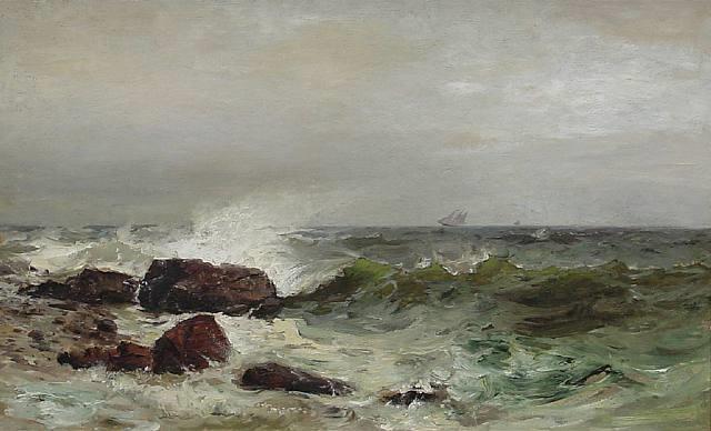 the coast of maine by mauritz frederick hendrick de haas