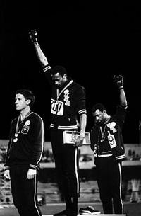 1968 olympics black power salute, mexico city, october 16, 1968 by john dominis ©time inc by life photographers
