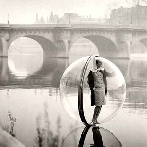 bubble on the seine, paris, bazaar by melvin sokolsky