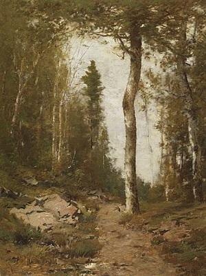 woodland shelter by alexander helwig wyant