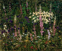 karen's garden study-fox gloves, iris plus... by anthony michael autorino