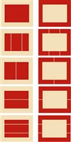 untitled (cadmium red light) by donald judd