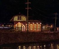 new hope railroad yard-reflections by anthony michael autorino