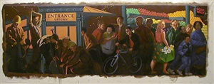 study for 'the return of spring' (mta times square mural) by jack beal