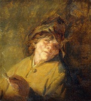 a study of a peasant smoking a pipe by adriaen jansz van ostade