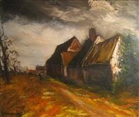 paysage by maurice de vlaminck