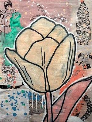 yellow tulip by donald baechler