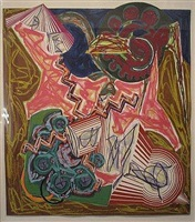 then came an ox and drank the water by frank stella
