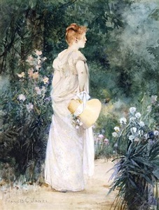woman in garden by francis coates jones