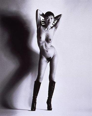 big nude, yuko by helmut newton