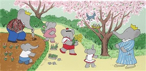 what could be better than gardening in spring? by laurent de brunhoff