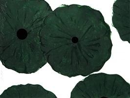 five greens, nov 21, 2006 by donald sultan