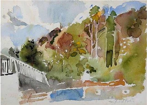 fairview, north carolina by fairfield porter