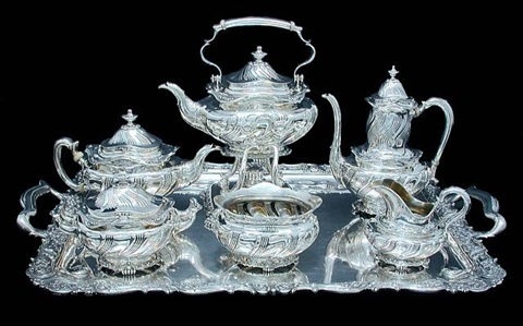 tiffany & co. sterling silver tea & coffee service by charles clyde benton cooke