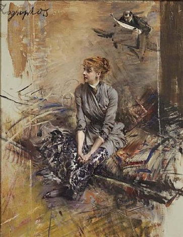 portrait of madame gabrielle réjane by giovanni boldini