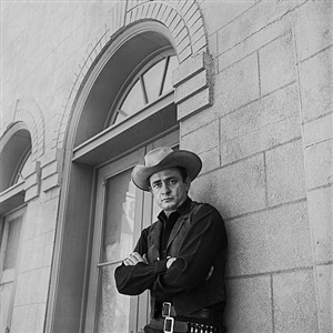 johnny cash, melody ranch, ca, april 14, 1960 by leigh weiner
