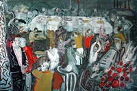 typical iranian wedding (diptych - right panel) by rokni haerizadeh