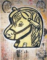 hobby horse head by donald baechler