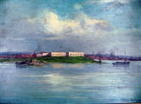 fort trumbull, new london, ct by william henry howe