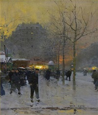 parsian winter scene by luigi loir